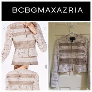 Cropped BCBGMaxazria faux suede jacket